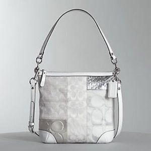 Coach Silver Patchwork Crossbody Bag